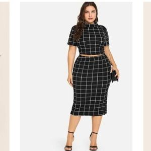 ✨Grid Skirt Set✨